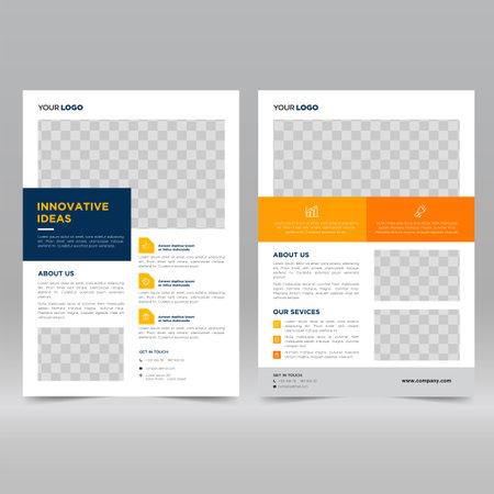 Corporate Poster, Flyer Design Template Vektoros illusztráció
