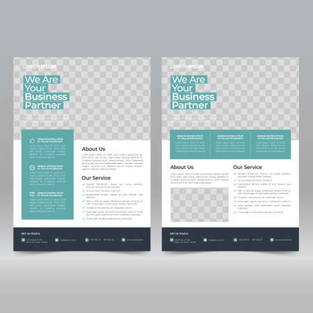 Corporate Poster, Flyer Design Template Ilustración de vector