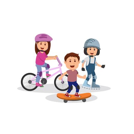 Set of Kids Sport Cartoon Vector