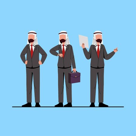 Arabian Muslim Businessman Character Illustration
