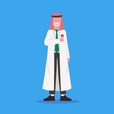 Arabian Old Man Doctor Character Design Illustration