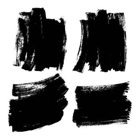 Brush Stroke Grunge Background Texture Black Ink Vector