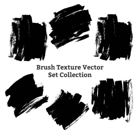 brush texture backgorund grunge vector ink collection set
