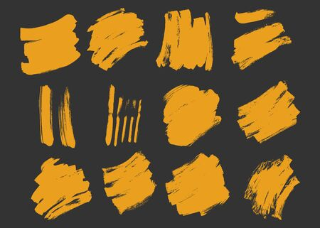 Collection of Brush Stroke Effect Texture Grunge Vector Ilustrace