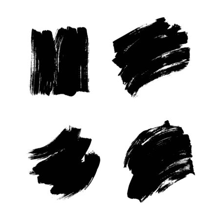 Grunge texture brush vector background strokes