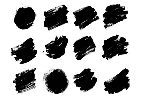 Set Brush Pack Texture Grunge Effect Vector Ilustrace