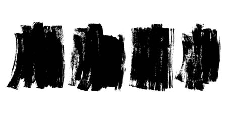 Vector Black Ink Brush Stroke Grunge Texture Background