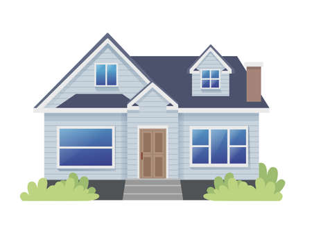 Classic Bungalow Traditional House Illustration Vector Illustratie