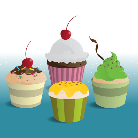 Beautiful Cupcake Illustration Illustration