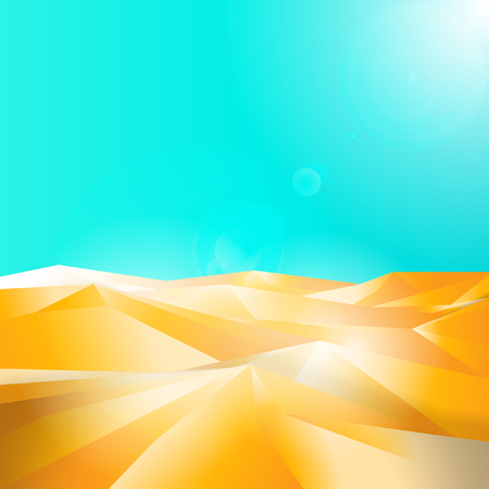 Polygonal of Desert Vector illustration.