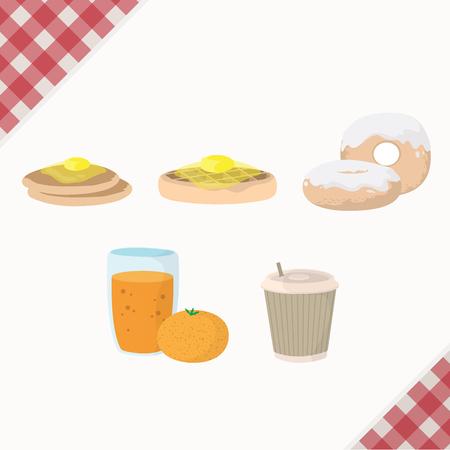 Breakfast menu illustration Ilustração