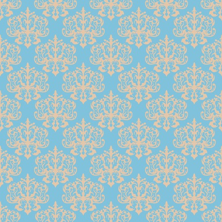 dise�o textil: Damask blue seamless pattern. Excellent for fashion textile design.