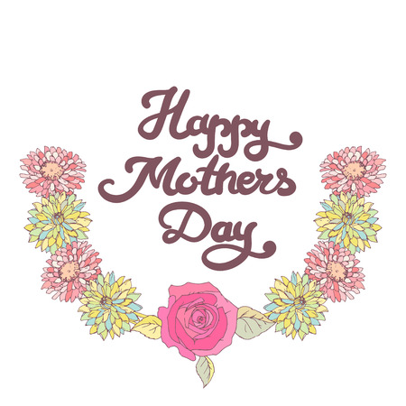 mothers day card: Mothers day card. Happy mom day.