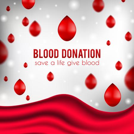 salvavidas: Cartel de donación de sangre, ilustración realista