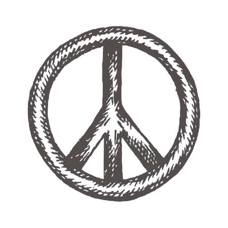 Peace symbol icon vector friendship pacifism Illustration