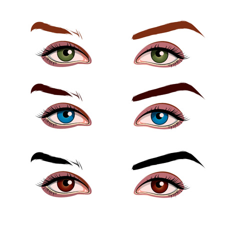 female eyes: illustration of a female eyes