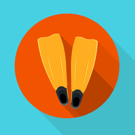 snorkeling: illustration flippers for snorkeling and scuba diving Illustration