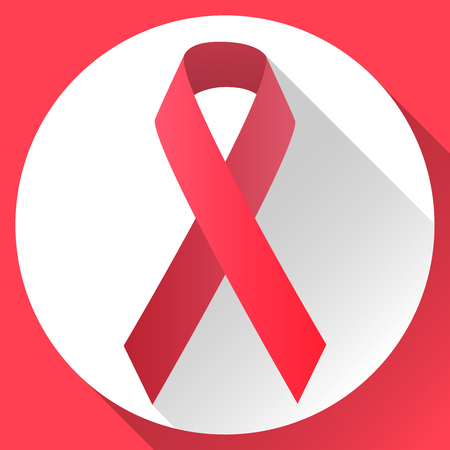 vector illustration red symbolic ribbon