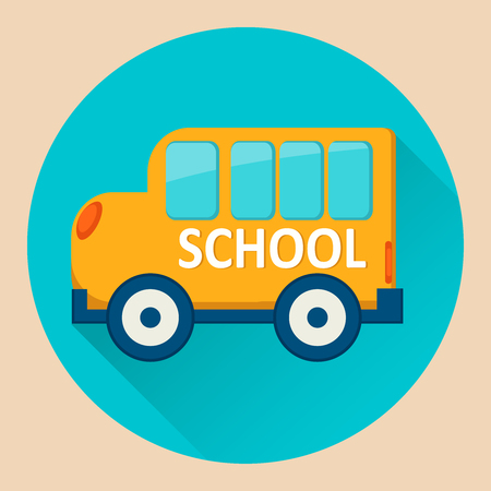 School Bus icon. Flat vector