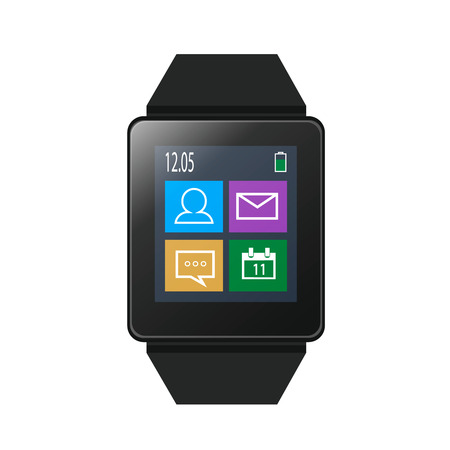 aplication: Smart watch with icons on screen