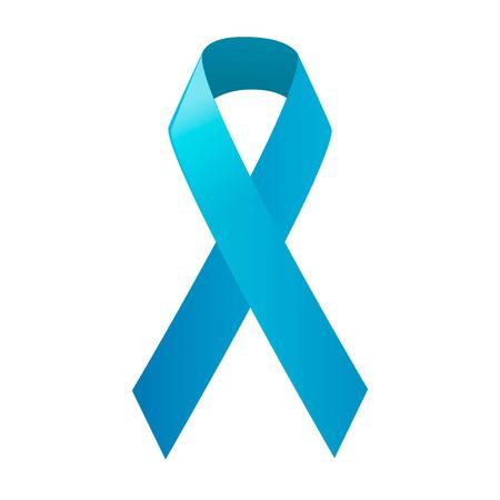 Día cáncer de próstata Mundial. Cinta azul de la conciencia. Ilustración del vector.