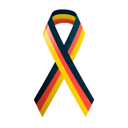 germanic: German flag. Ribbon in national colors. Black red and yellow tape. Vector illustration. Illustration