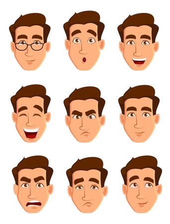 男の表情。