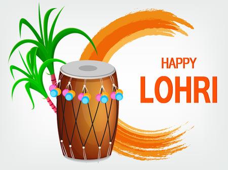 Happy Lohri banner. Illustration