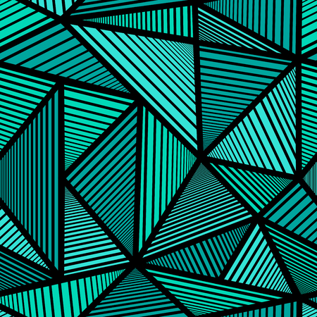 abstract paint: Colorful pattern with green triangle