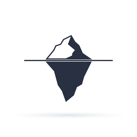 tip of iceberg: Iceberg vector eps icon isolated on white background Illustration