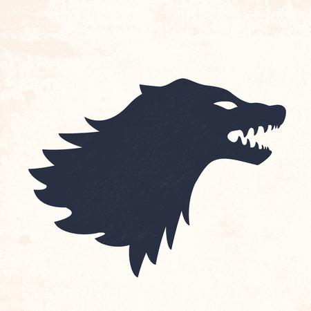 Wolf head. Vector illustrations