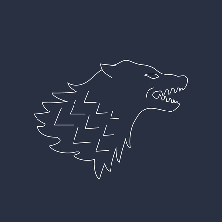 Wolf head. Vector illustrations. Abstract icon