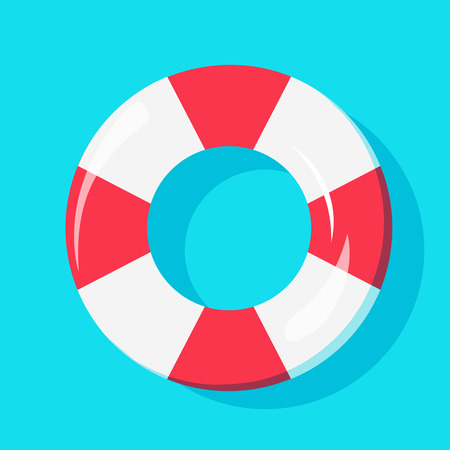 Top view of Swim Tube on water, For Summer Icon, Background Design.