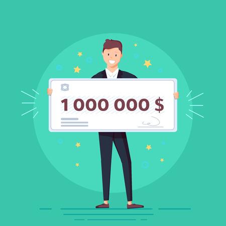 Lottery gain concept Ilustrace