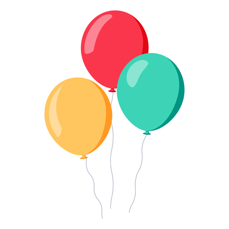 Bunch of balloons in cartoon Illustration