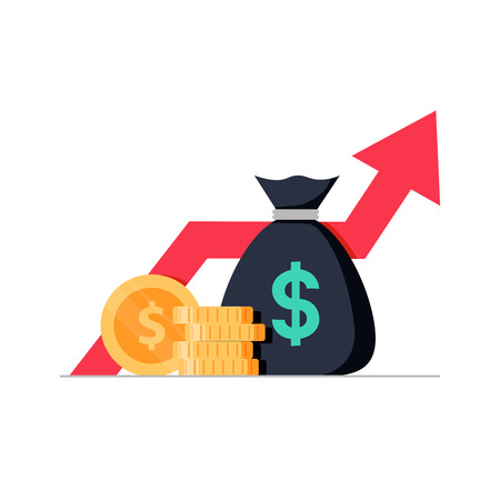 Financial performance, statistic report, boost business productivity, mutual fund, return on investment, finance consolidation, budget planning, income growth concept, vector flat icon