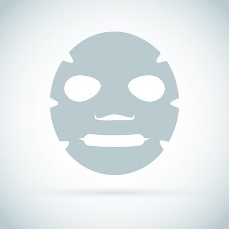Facial mask flat icon. Medicine, cosmetology and health care. Stock Photo