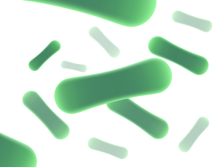 Green probiotics bacteria background. Concept of healthy nutrition ingredient for therapeutic purposes. realistic 3d style trend modern pattern graphic design isolated on white background