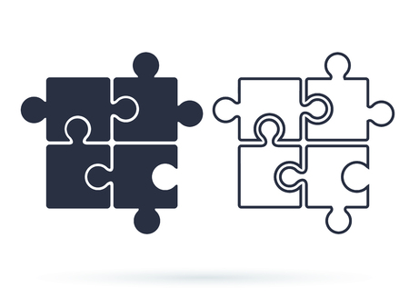 Puzzle icon vector, filled flat sign, solid pictogram isolated on white. Plugins symbol,  illustration.