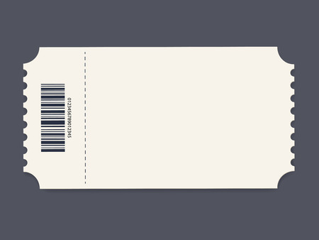 Ticket template. Vector