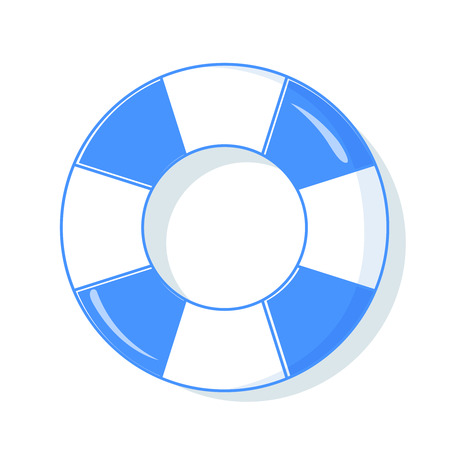 Colorful swim rings icon set isolated on white background. Vector illustration.