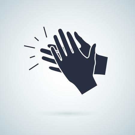 aplaudiendo icono de la mano, ilustración vectorial aislados signo symbol.Hand clap ilustración vectorial. Icono Aplausos Ilustración de vector