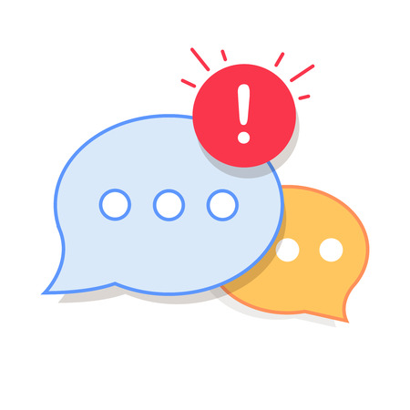 New Message, Dialog, Chat Speech Bubble Notification icon vector Illustration