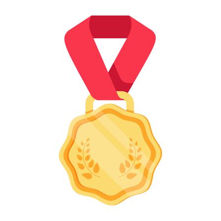 Win medal icon award prize illustration. First place sign success symbol. Reward program. Win super prize achievement