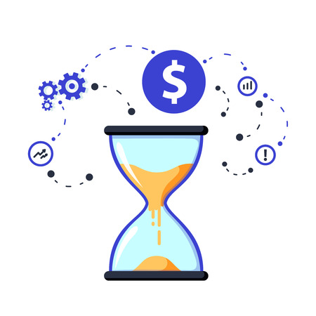 Time is money concept, long term investment and financial future planning. Rension savings fund finance solutions