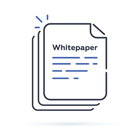 Whitepaper icon, paper sheet or blank symbol.