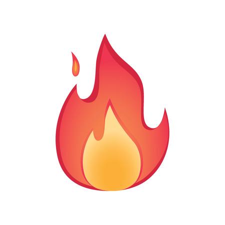 Vector fire illustration