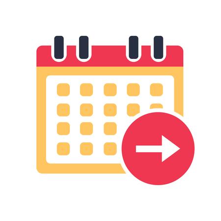 Calendar next day icon vector, event symbol. Agenda symbol in flat design style.