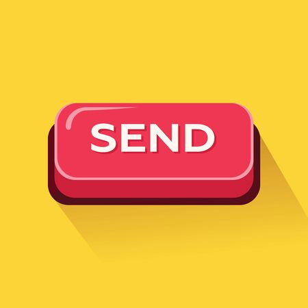Send button. Vector Illustration