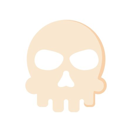 Extreme skull isolated icon.
